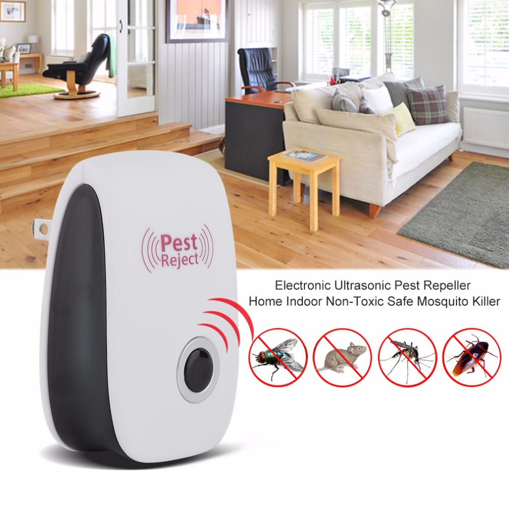 EU / US Plug Electronic Ultrasonic Pest Repeller Home Indoor Non-Toxic Safe Killer Killer Anti Mosquito Reject Repeller