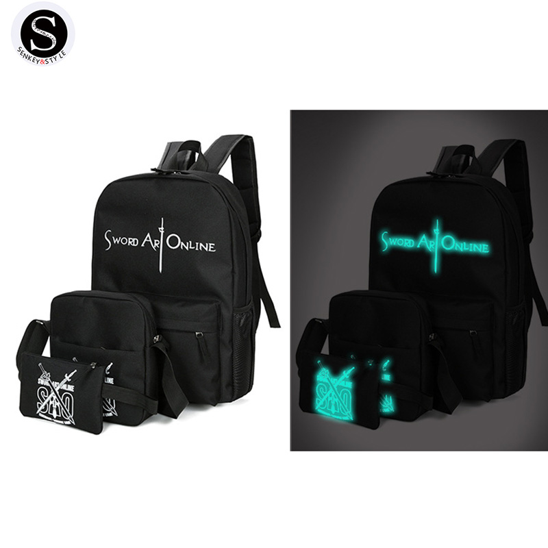 Senkey Style Cartoon Luminous Anime Women Backpack Kuuluisat - Reput