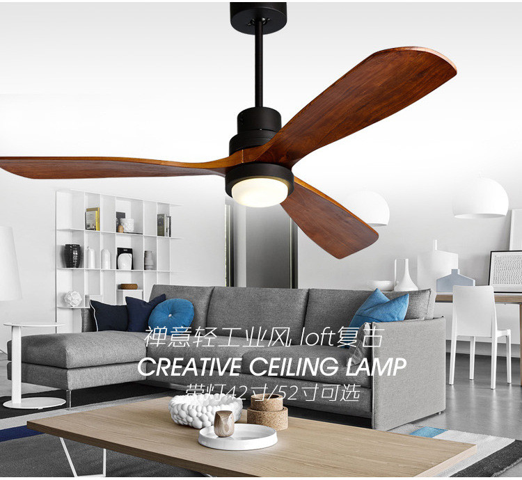 American Retro Ceiling Fan Light Nordic Modern Dinning Room Bedroom Living Room Cafe Solid Wood Fan LampAmerican Retro Ceiling Fan Light Nordic Modern Dinning Room Bedroom Living Room Cafe Solid Wood Fan Lamp