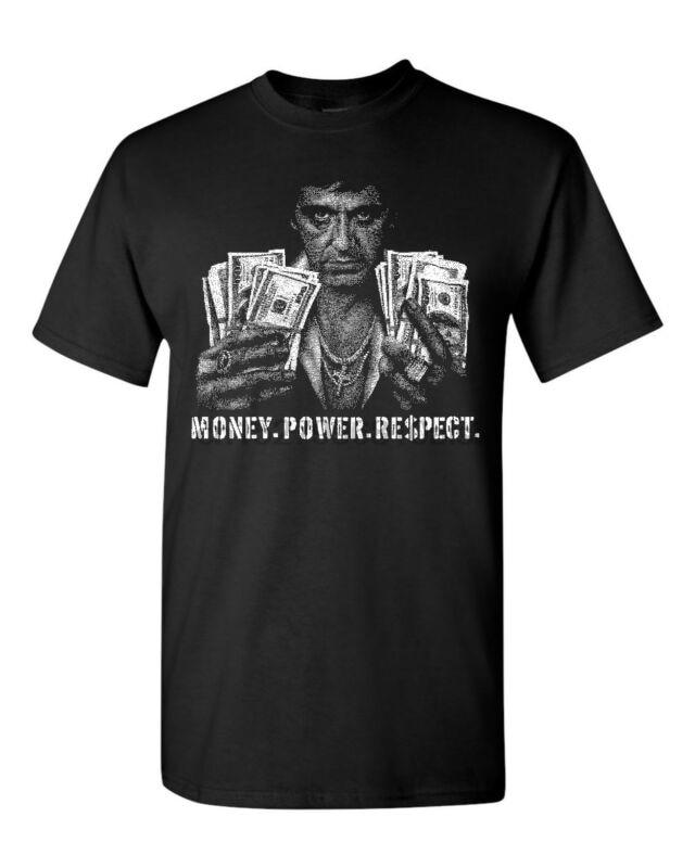 Scarface Money Power Respect Scar Face Men/'s Tee Shirt 1783