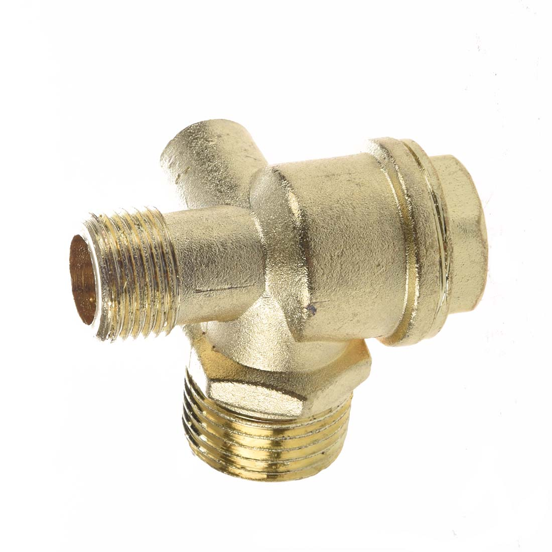 DSHA New Hot New Gold Tone 3/8 Female Thread Tube Connector Air Compressor Check Valve 3 8 check valve with solder connection for bus air conditioner and refrigeration truck replace sporlan check valve
