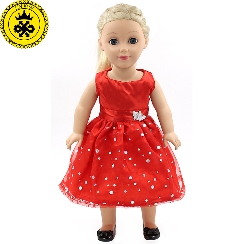 Handmade 18 Inch American Girl Doll Clothes 15 Style Multicolor Dress Elegant Princess Dress