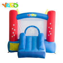 лучшая цена Inflatable Bouncer Castle Children Funny Playground Inflatable Bouncer House Jumping Bouncer Castle House with Air Blower