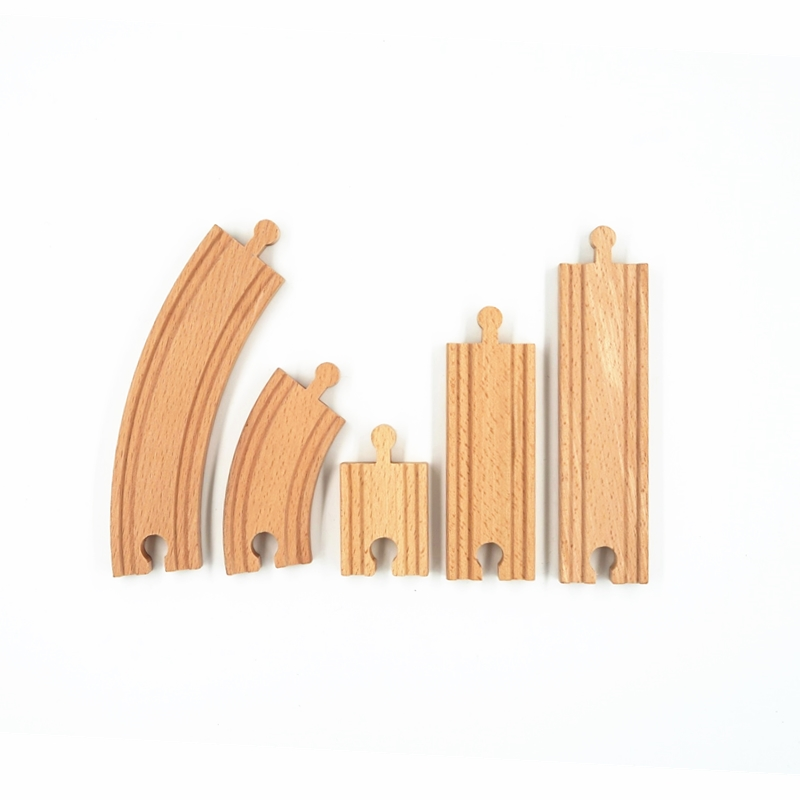 Wooden Train Track Set Wooden Railway Toys To Expand Your Train Tracks Wood Train Straight Track Drop Shipping