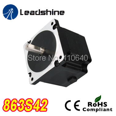 Free Shipping GENUINE Leadshine 863S42 3 Phase Hybrid Stepper Motor with 4.3 N.m 5 A length 103 mm shaft 12 mm free shipping genuine leadshine 110hs28 phase nema 42 hybrid stepper motor with 28 n m 6 5 a length 201 mm shaft 19 mm