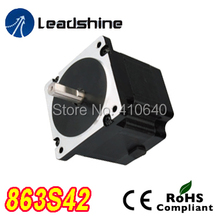 Free Shipping GENUINE Leadshine 863S42 3 Phase Hybrid Stepper Motor with 4.3 N.m 5 A length 103 mm shaft 12