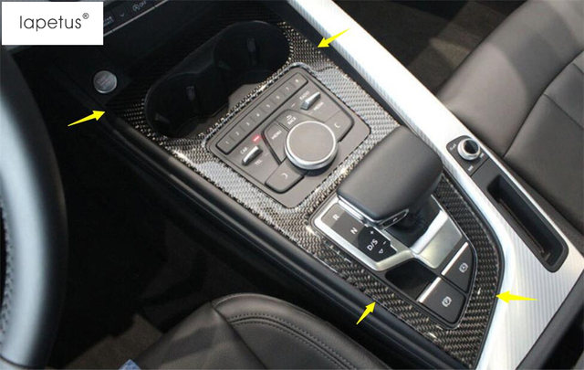 Lapetus Transmission Shift Gear Panel Cover Trim Fit For Audi A5 A4
