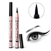 Потрясающий 1 шт., черный стойкий карандаш для глаз, Водостойкая Подводка для глаз, стойкий к размазыванию, косметический макияж, жидкий, розовый, в горошек