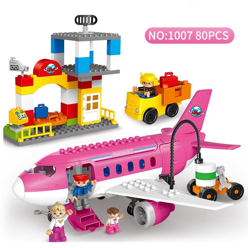 Grande aeroporto airbus avião figuras blocos de