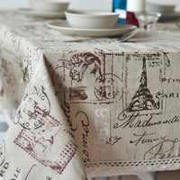 Neue Ankunft Paris Turm Tischdecke Home/Diner/Party Tisch Abdeckung Kaminsims De Mesa Multifunktions Flaxen Abgedeckt Tuch