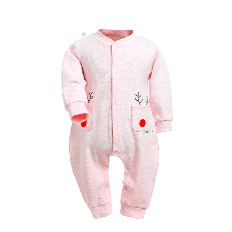Newborn Baby Clothes Cartoon Rompers Long Sleeve Girls Clothing Autumn Boy Jumpsuits Roupas Bebes Infant Costume Christmas Deer