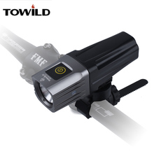 TOWILD Professional 1600 Lumens Bicycle Light Side Warning IPX6 Waterproof USB Rechargeable Bike Flashlight Accessories