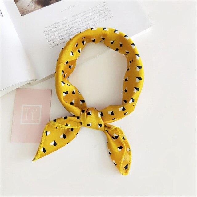Для женщин модные элегантные маленькие Винтаж квадратный шелк чувствовать сатиновый шарф Тощий Ретро голову, шею волосы галстук повязка-шарф для Бизнес Вечерние