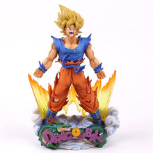 Diorama O Son Goku De Dragon Ball Z Super Estrelas Mestre A Escova PVC Figure Collectible Modelo Toy 24 cm(China)