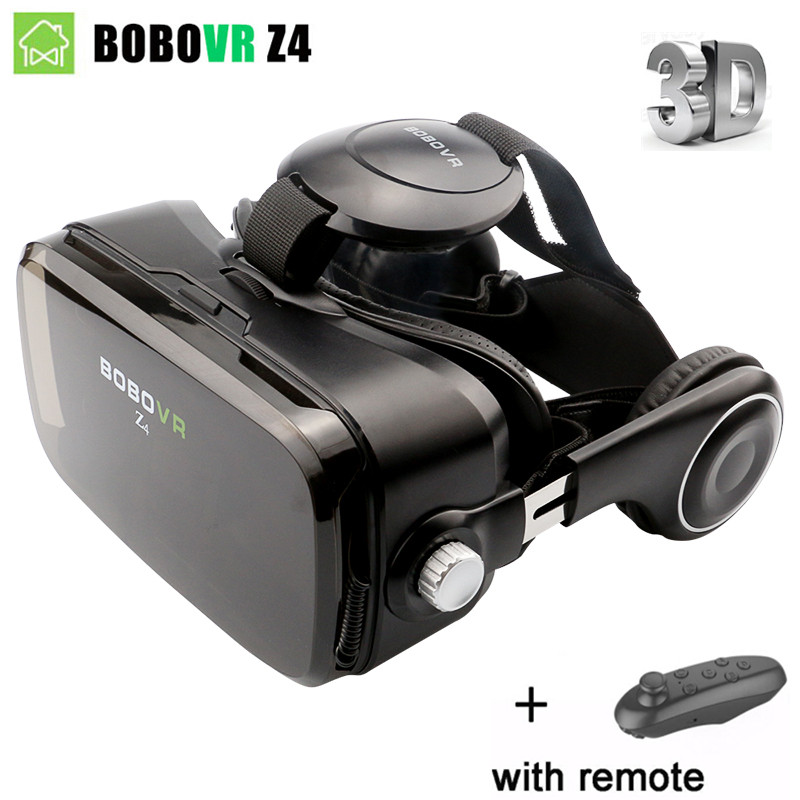 BOBOVR Z4 VR Box Leather 3D Cardboard Helmet Virtual Reality VR Glasses Headset Stereo for Smartphone + bluetooth Controller omimo wifi virtual reality vr helmet 3d three dimensional android virtual reality glasses full hd 1080p