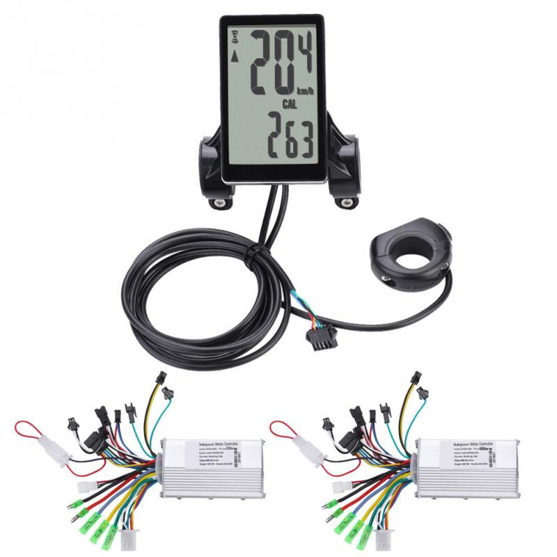 36V 48V 250W 350W Electric Bicycle Controller with Waterproof LCD Display Panel for E bike Electric