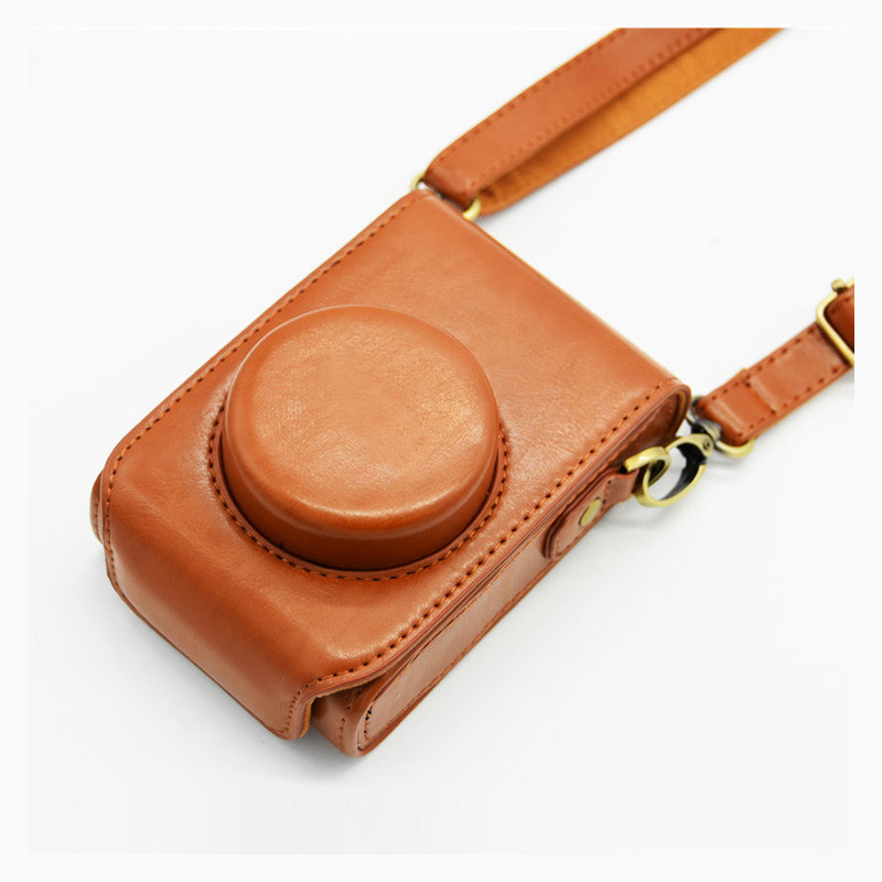 High quality Camera Bag Cover for Panasonic Lumix DMC LX7 LX5 Leather camera case LX3 shoulder bag