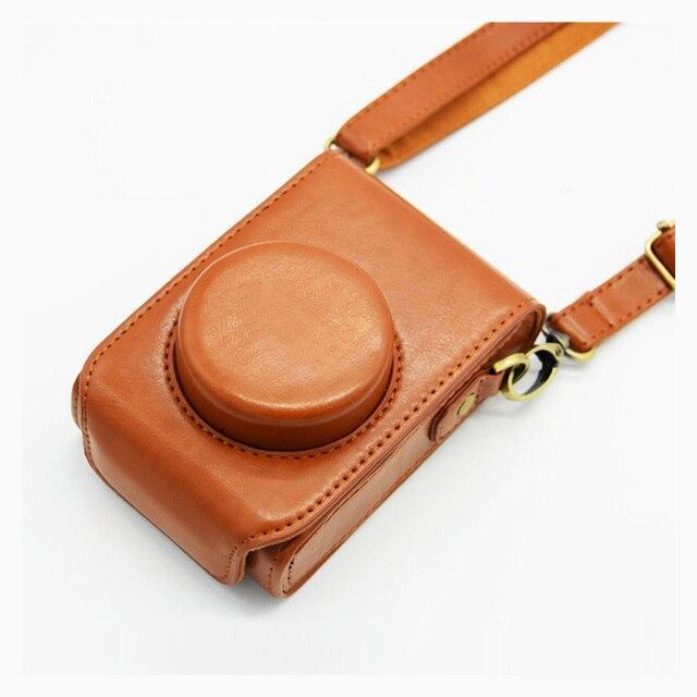 PU leather case Camera Bag Cover for Panasonic Lumix LX7 LX5 LX3 LX10 LX15 shoulder bag