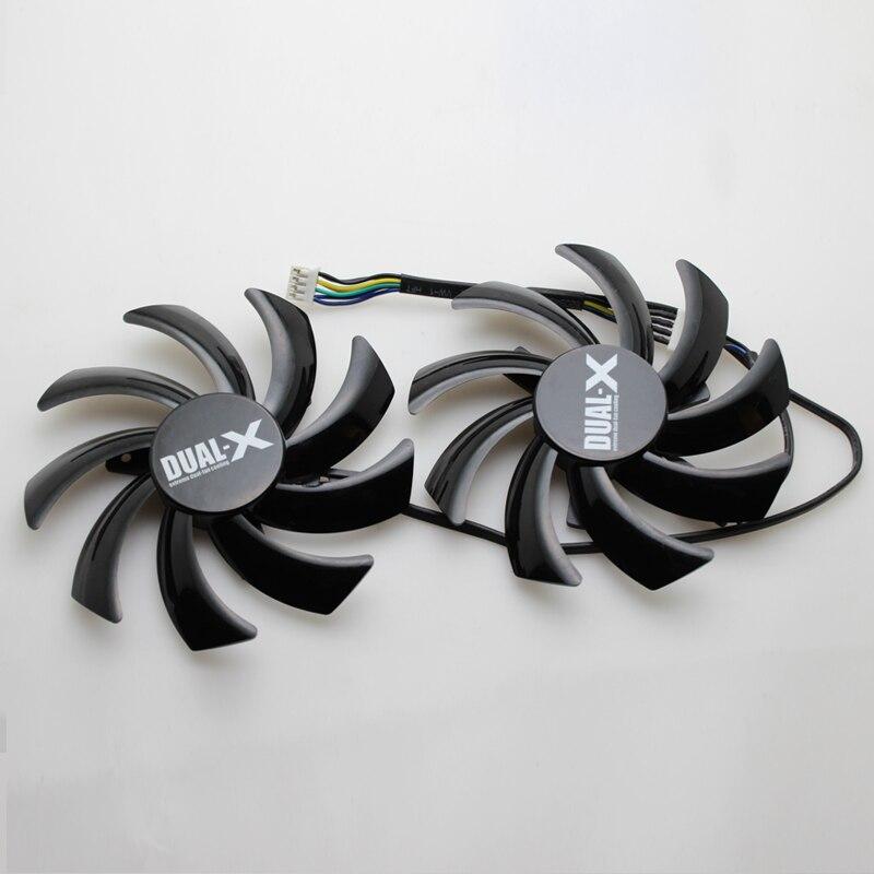 2 unids/lote ordenador VGA disipador tarjeta gráfica ventilador de refrigeración como reemplazo para xfx R9 280X 290X tarjeta de vídeo
