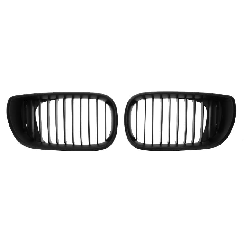 1 Pair Front Kidney Grille ABS Car Racing Grills for BMW 3 Series E46 4 Doors 02 05 318I 320I 325I 330I Car Styling Accessories-in Racing Grills from Automobiles & Motorcycles