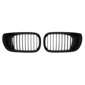Image 1 - 1 Pair Front Kidney Grille ABS Car Racing Grills for BMW 3 Series E46 4 Doors 02 05 318I 320I 325I 330I Car Styling Accessories