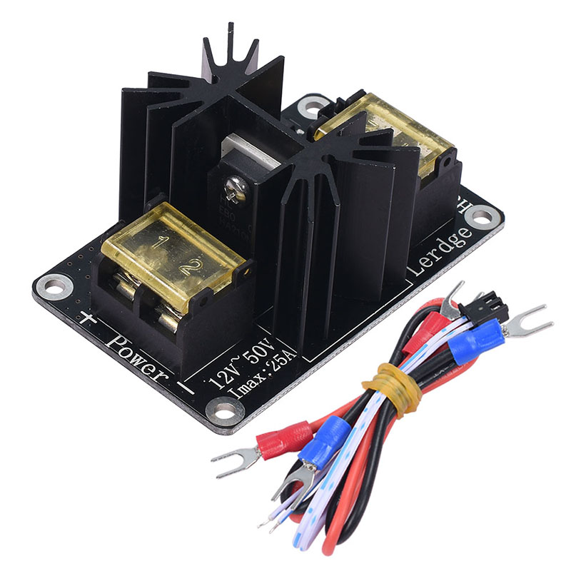 3D printer part Heat Bed Power Module Hot Bed Power Expansion Board High Current Load Module Mos Tube with Cables цены онлайн
