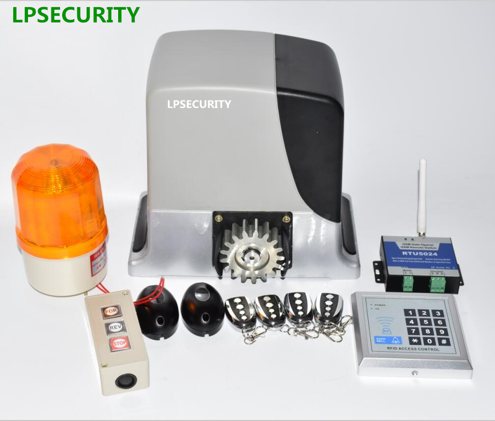 LPSECURITY 600kg GSM Automatic Sliding Gate Opener Motor Operator Kit With Optional Parts