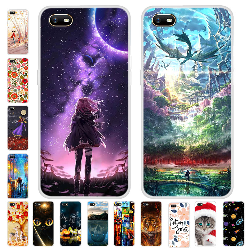For OPPO A1K Case Cover TPU Soft Silicone Back Cover For OPPO A1K CPH1923 A 1K Case Bumper On For OPPO A1K Phone Coque Fundas