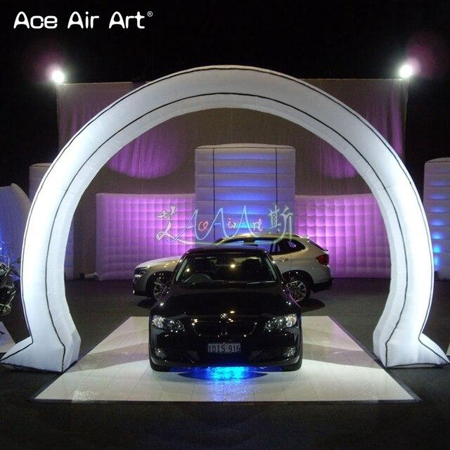Eyecandy nouveau style mini arc circulaire gonflable publicité exposition arc porte dentrée pour les salons automobiles