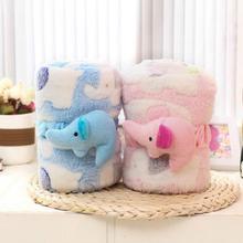 Newborn Baby Blanket Super Soft Faux Fur Fleece Kids Flannel Winter Child Cartoon Wraps Blankets Beds Sleeping Bag Swaddle A1004