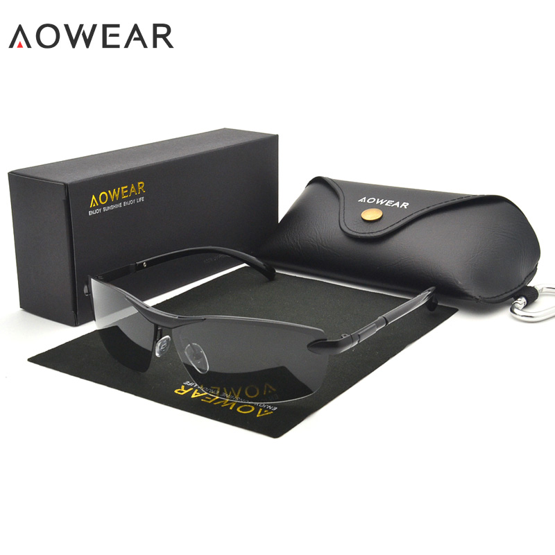 AOWEAR HD хамелеоны солнцезащитные очки мужские поляризованные фотохромные очки Хамелеон для мужчин день ночь вождения солнцезащитные очки Oculos gafas