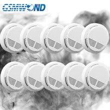 433MHz bezprzewodowy detektor dymu s czujnik dymu z alarmem dla domowy system przeciwwłamaniowy, alarm przeciwpożarowy system, 10 sztuk to