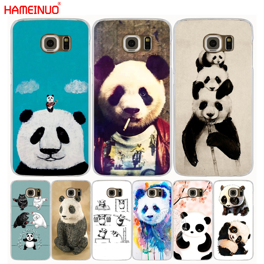 HAMEINUO Nette Cartoon Tier <font><b>Panda</b></font> handy fall abdeckung für <font><b>Samsung</b></font> <font><b>Galaxy</b></font> <font><b>S7</b></font> rand PLUS S8 S6 S5 S4 S3 MINI image