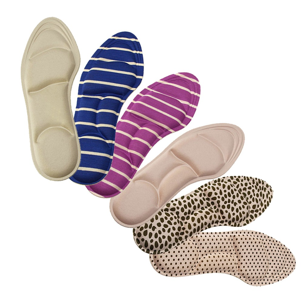 Ladies Feet Care Massage High Heels Sponge 3D Shoe Insoles Pads Cutting DIY