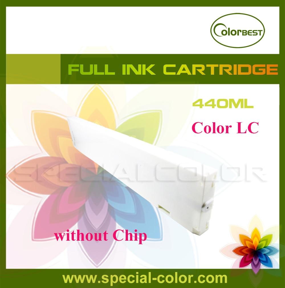 Bilgisayar ve Ofis'ten Yazıcı Parçaları'de 440 ml mürekkep kartuşu Eko solvent Mürekkep Tankı çip olmadan renk LC için Roland/Mimaki/Mutoh Yazıcı