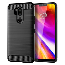 for lg x5 one case silicone carbon fiber cell phone anti knock back cover cases