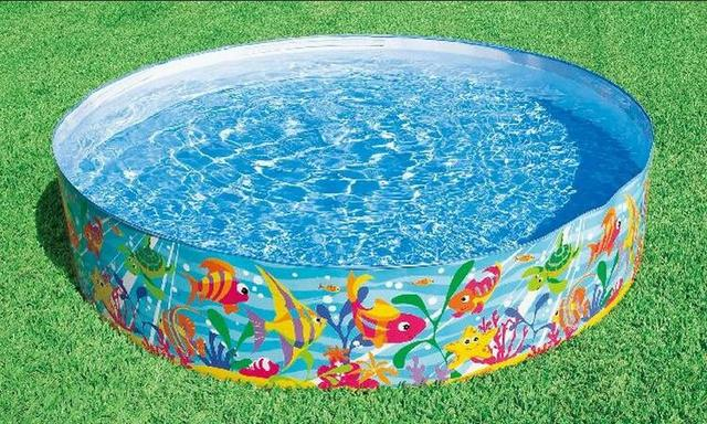 INTEX 56452 Free Inflatable Fish Pattern Hard Plastic Childrens Pool Play Sand Pond Cassia 183