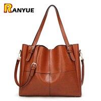 PU Leather Women Bag Big Casual Tote Vintage Patchwork Woman Shoulder Bags Luxury Handbags Famous Brand