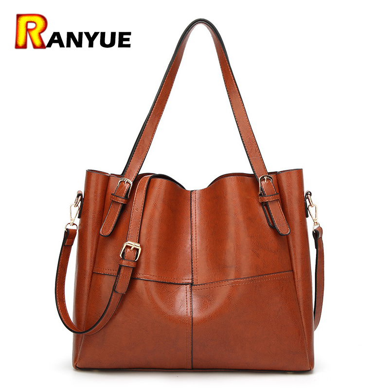 PU Leather Women Bag Big Casual Tote Vintage Patchwork Woman Shoulder Bags Luxury Handbags Famous Brand Designer Women Handbag new genuine leather bags for women famous brand boston messenger bags handbags tassel tote hand bag woman shoulder big bag bolso