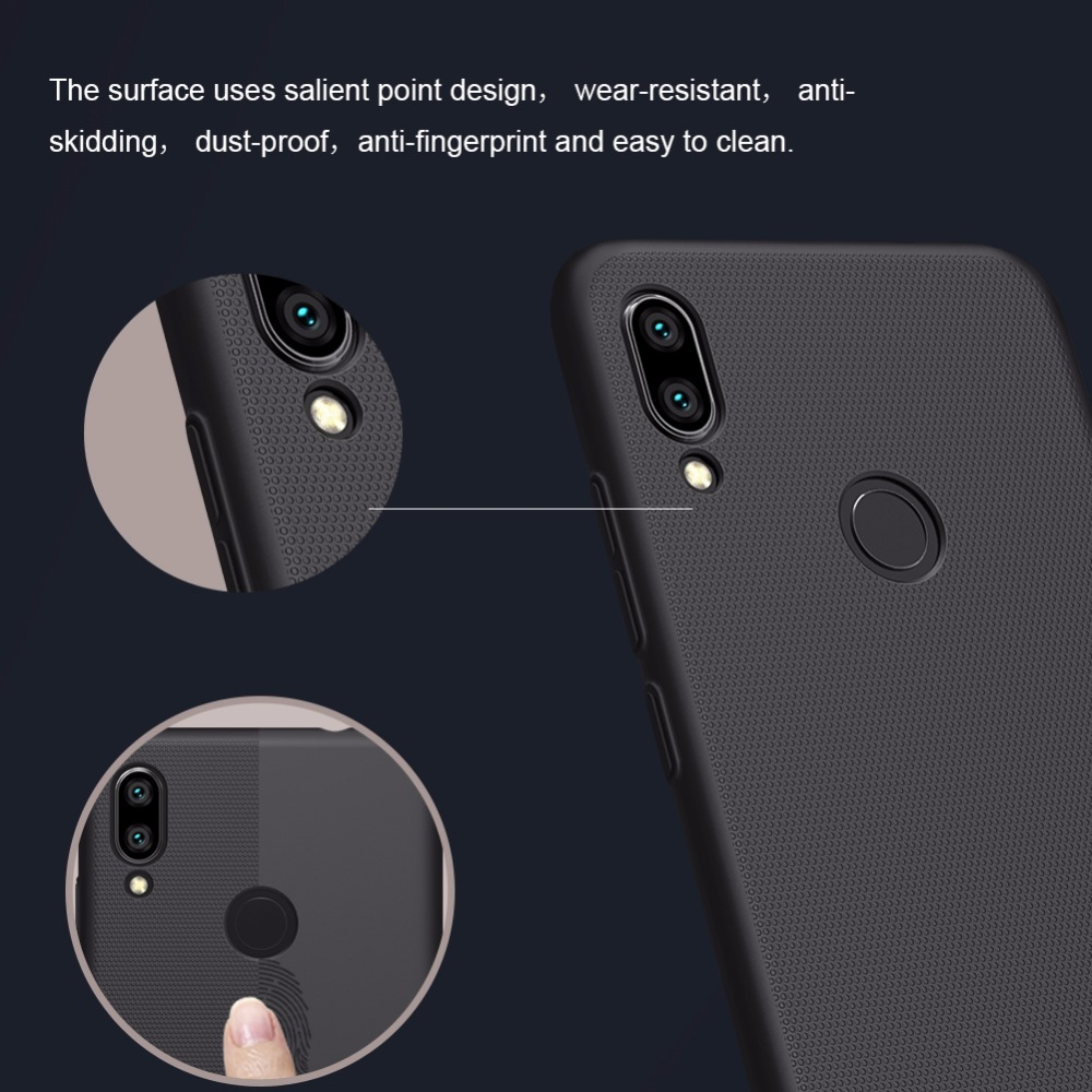 Case For Xiaomi redmi note 7 Pro Cover NILLKIN Super Frosted shield Back Cover Matte Frosted shield with retail package