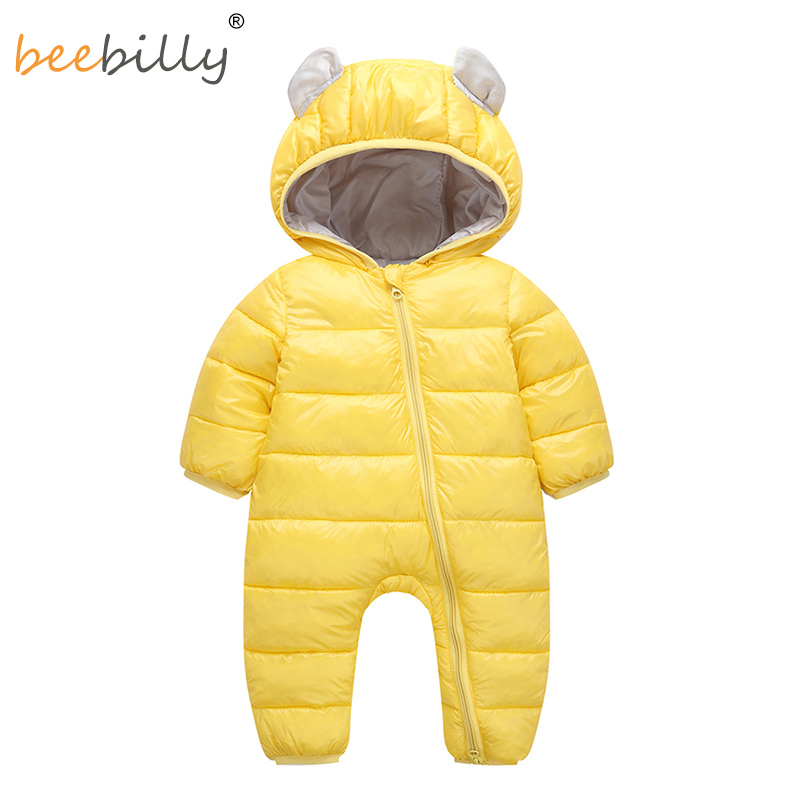 2018 Baby   Rompers   Winter Jumpsuit for Baby Newborn snowsuit Snow Wear Boys Warm Coats 100% Cotton Girls clothes