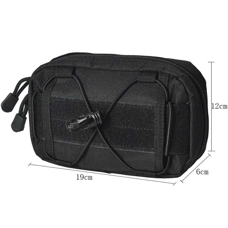 Outdoor Camping Men Nylon Molle Pouch Tactical Belt Small Pocket Military Wallet Waist Pack Travel Hunting Pouch Rifle Bag