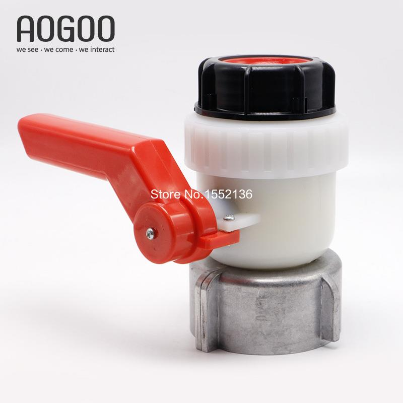 1000L Water IBC Tank Container Inlet 80mm To Outlet Male 2Inch DN50 A Ball Valve ibc water tank 62mm dn40 screwable ball valve square coarse thread