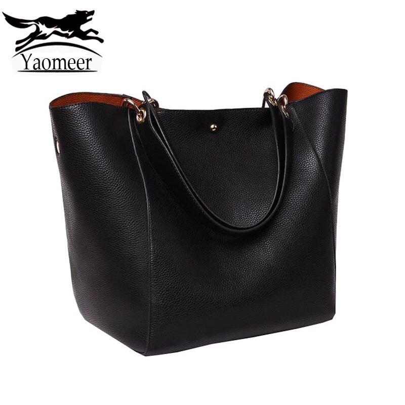 New Famous Brand Women Genuine Leather Handbags Luxury Designer Messenger Shoulder Bag Female Black Soft Crossbody Bag Sets