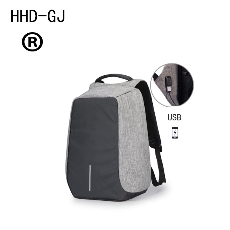 HHD DJ USB Charge Anti Theft Backpack Men Travel Security Waterproof School Bags College Teenage Male 15inch Laptop Backpack in Laptop Bags Cases from Computer Office