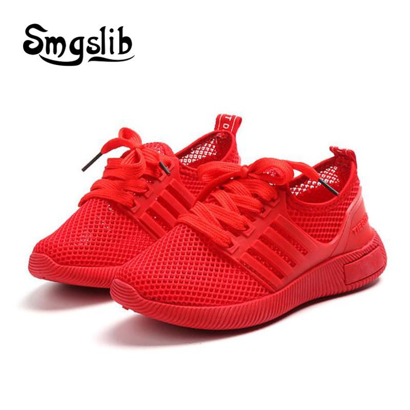 girl shoes sneakers kids 2018 summer Children elastic fabric running shoes Mesh Casual Shoes Sport Non-slip trainers Sneakers