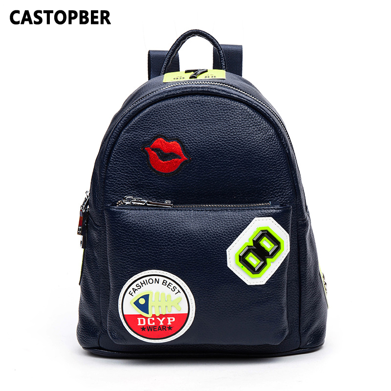 ФОТО Designer School Bag For Teenage Girls Womens College Backpacks Genuine Cowhide Leather Fashion Bags Famous Brand High Quality