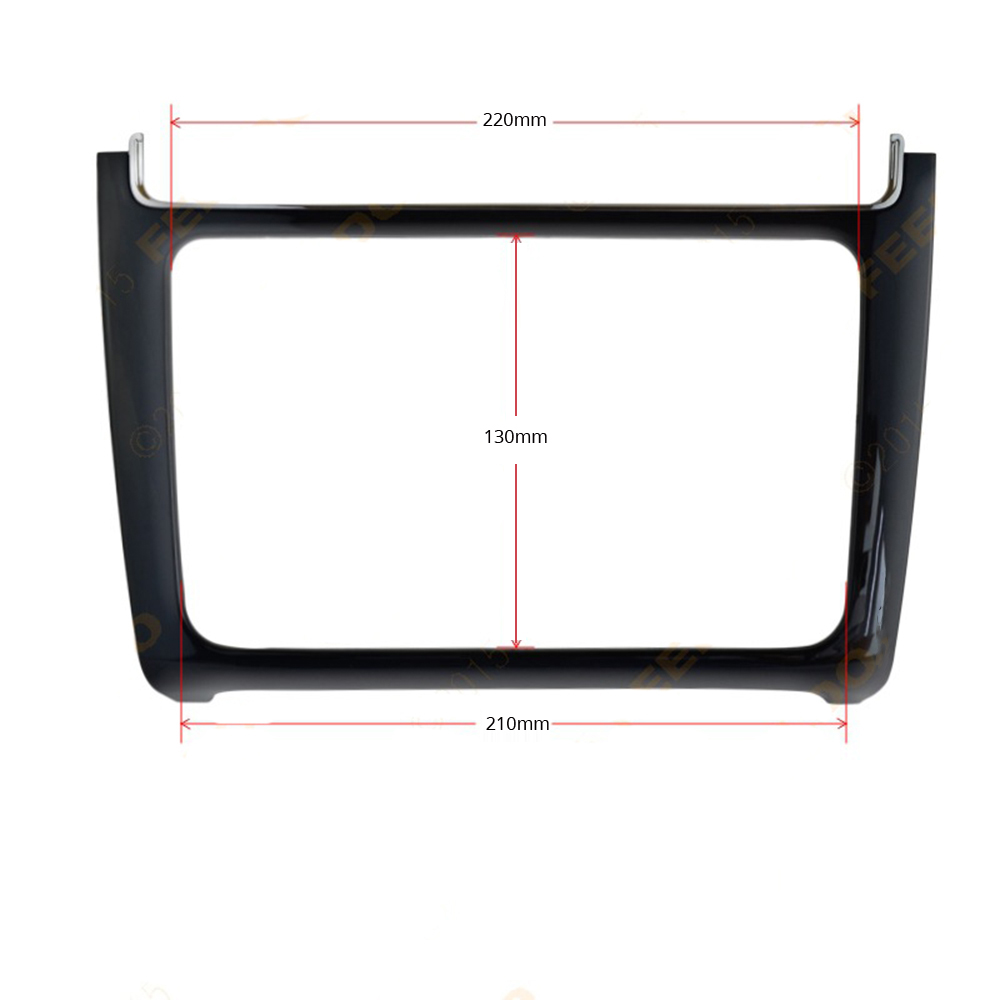 Android Car DVD Frame for Volkswagen VW Polo 2014 2015 2016 2017 2 Din Auto Radio Stereo Fascias Player Panel Dashboard