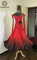 GOODANPAR бальных танцев платья дамы Для женщин девочек мелкие камни с длинным рукавом этап Одежда для танцев вальс фламенко бальные платья