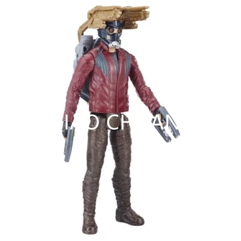 Avengers:Infinity War Guardians Of The Galaxy Peter Jason Quill Star-Lord With Sound Module PVC Action Figure Model Toy G1170 1 6 figure doll head shape 12 action figure accessories guardians of the galaxy star lord peter quill chris pratt head carved